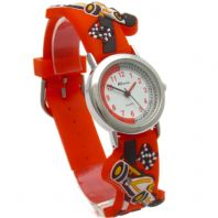 Ravel Kids Watch 3D Silicone Strap Cartoon Cars Design Red 1513.31R